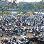 夥しい数のバイク